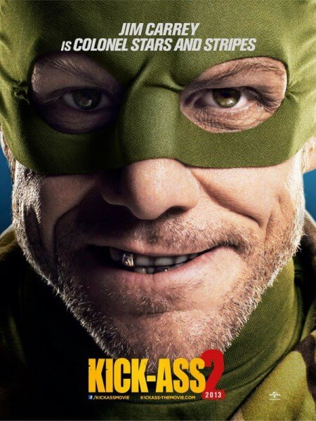Jim Carrey as Colonel Star and Stripes for Kick-Ass 2