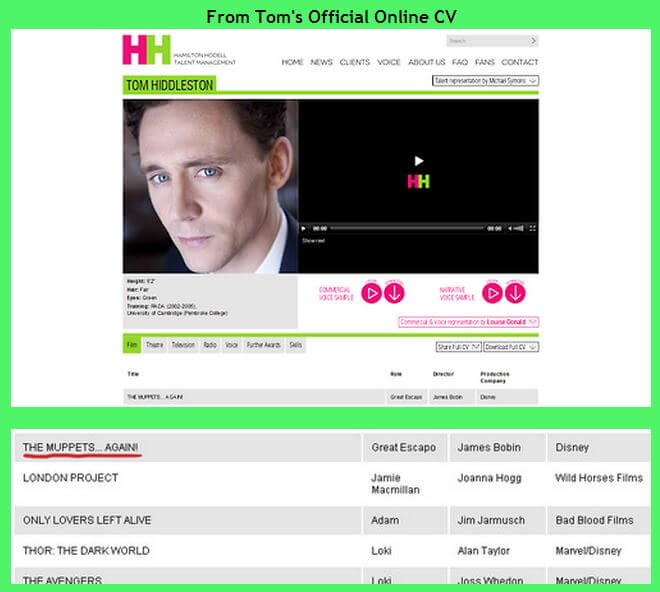 Tom Hiddleston confirmed for Muppets...Again!?