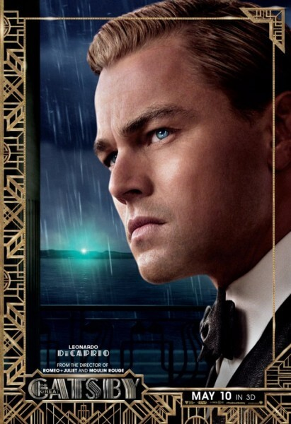 The Great Gatsby poster featuring Leonardo DiCaprio as Gatsby
