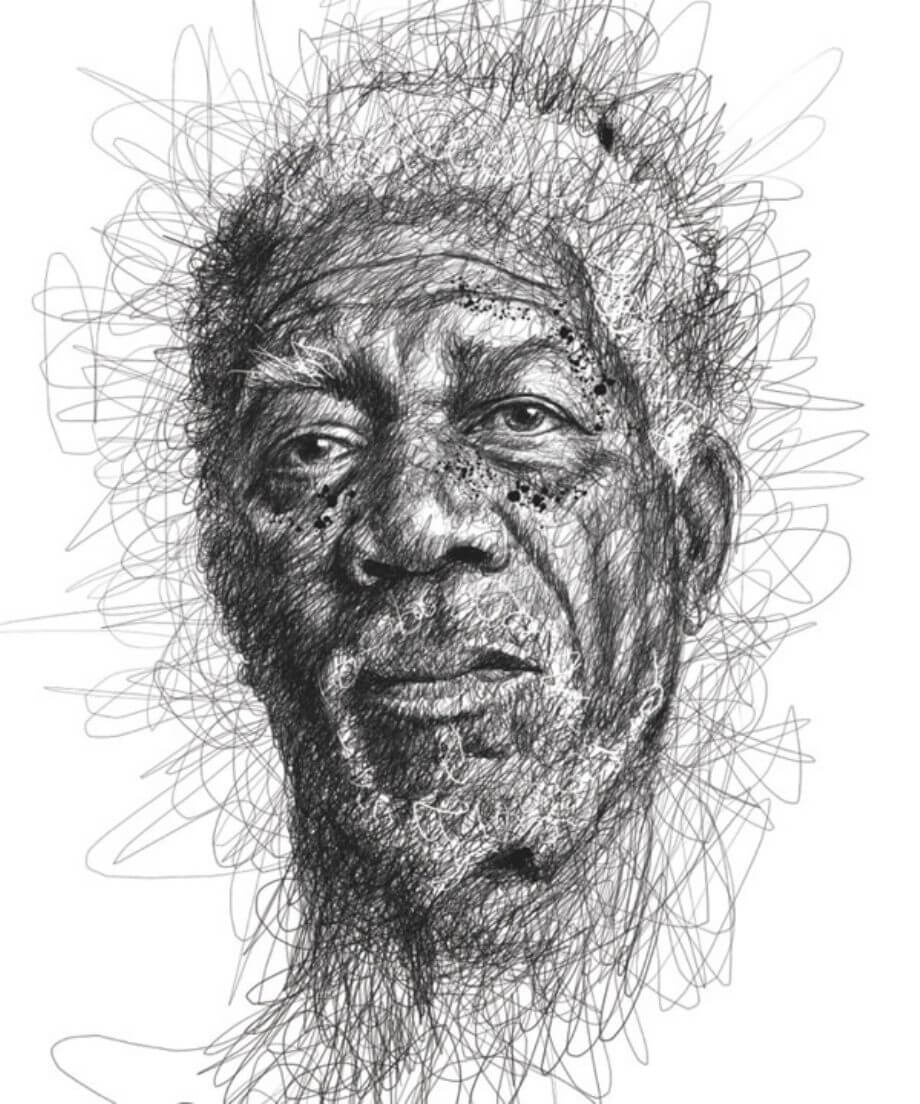 Scribble Drawing Uk : Fun stuff vince low s faces scribble series midroad