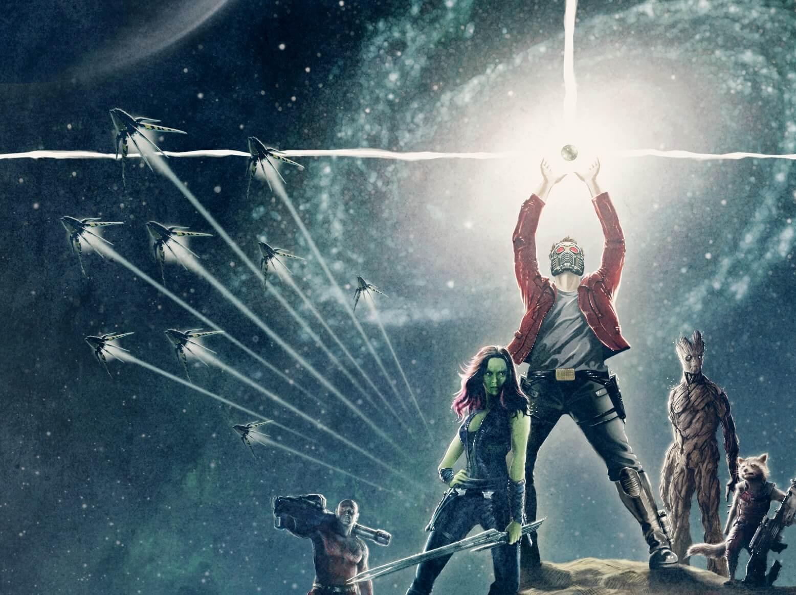 Guardiani della Galassia 2: Una delle locandine dei Guardiani della Galassia che emula Star Wars Episodio IV