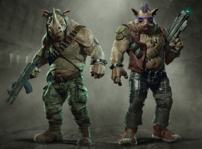 beebop and rocksteady tmnt concept art