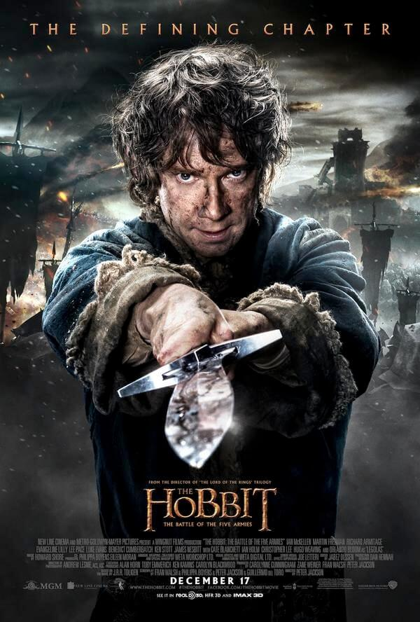 hobbit battle of five armies bilbo character poster