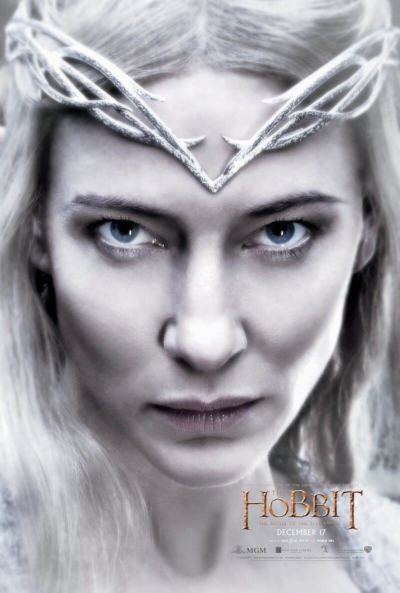 hobbit battle of the five armies galadriel poster