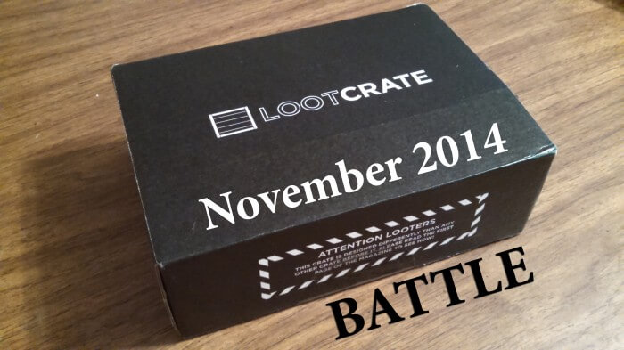 battle crate november 2014 loot crate unboxing