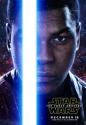star wars the force awakens movie finn character poster