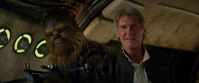 star wars the force awakens review han and chewie