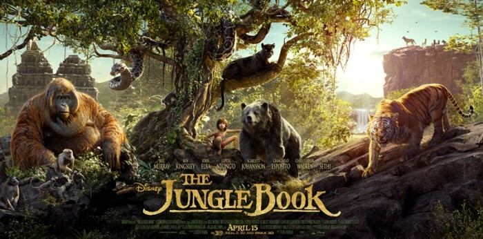 the jungle book movie poster triptych