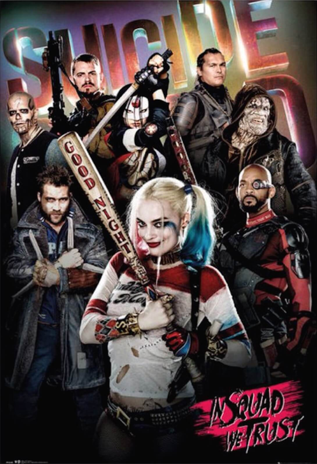 new suicide squad posters keep teasing the ensemble midroad movie review. Black Bedroom Furniture Sets. Home Design Ideas