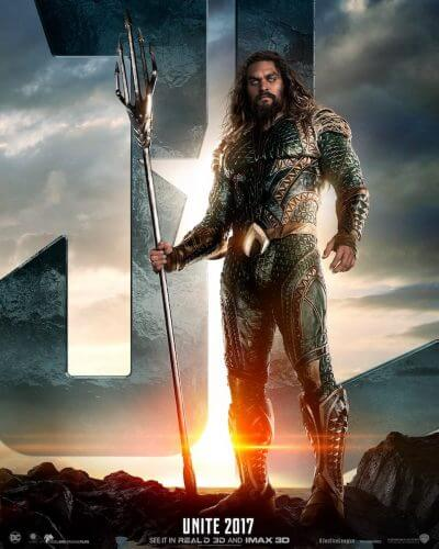 justice league movie poster aquaman