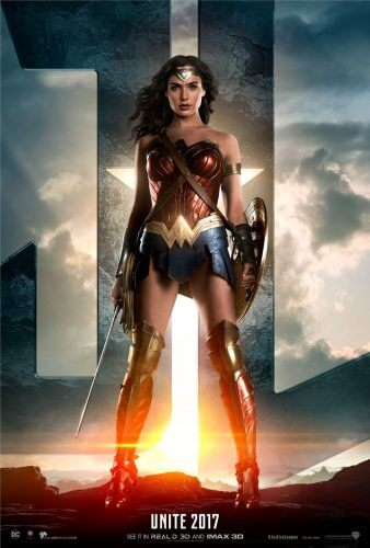 justice league movie poster wonder woman