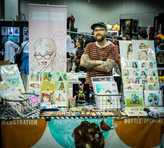 DCC2017 Keith P Rein artist spotlight denver comic con