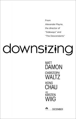 downsizing movie poster 2017