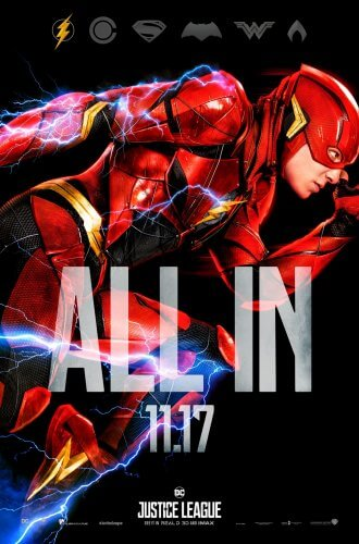 justice league 2017 flash character poster