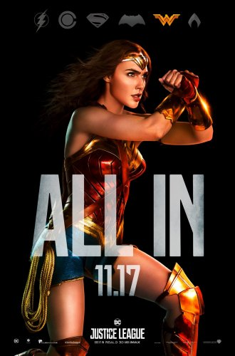 justice league 2017 wonder woman character poster