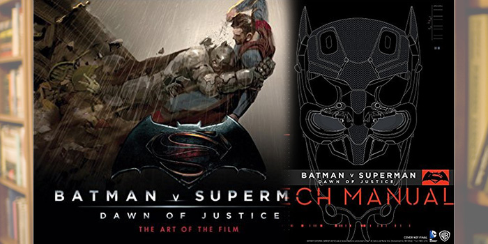 (Books) BATMAN V SUPERMAN art book and technical manual complement the movie well